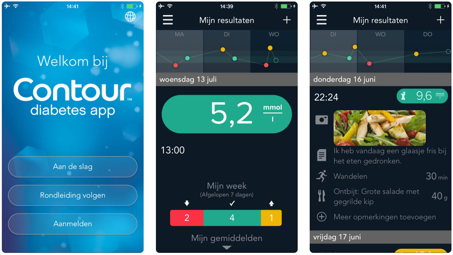 Diabetes app. Contour Next One