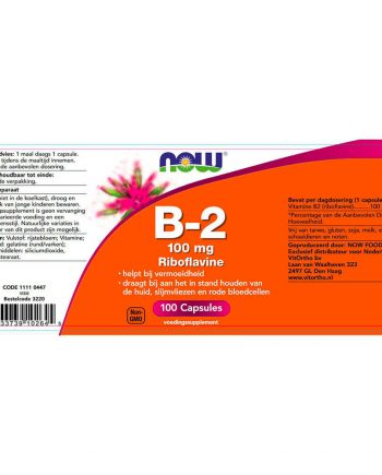 NOW B2 100 mg (100 capsules)
