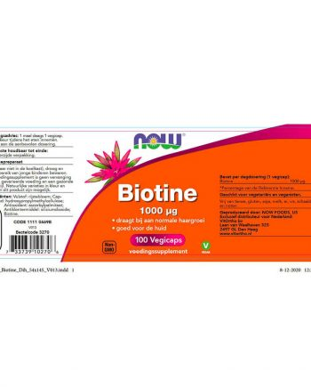 NOW Biotine 1000 µg (100 vegicaps)