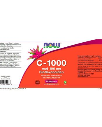 NOW C-1000 met 100 mg Bioflavonoïden (100 veg capules)