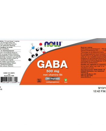 NOW GABA 500 mg (100 vegicaps)