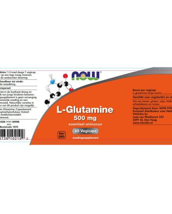 NOW L-Glutamine 500 mg (60 vegicaps)