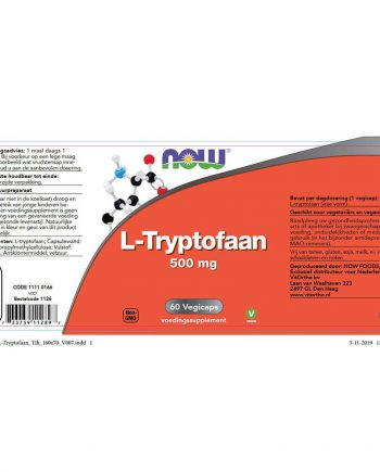 NOW L-Tryptofaan 500 mg (60 vegicaps)