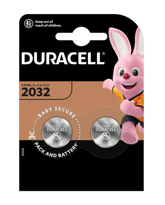 Duracell Lithium DL2032 3V Batterij (2 stuks)