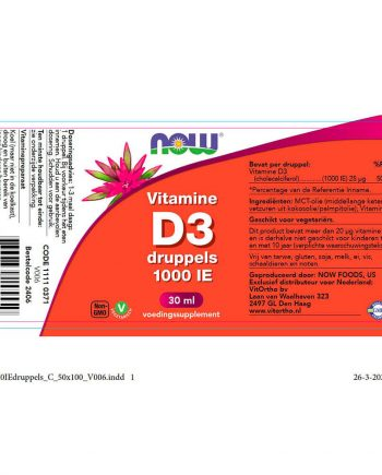 NOW Vitamine D3 druppels 1000 IE (30ml)