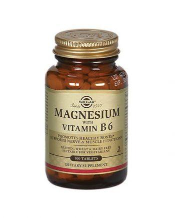 Solgar Magnesium met Vitamine B6 (100 tabletten)