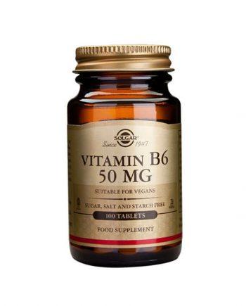 Solgar Vitamine B6 50 mg (100 tabletten)