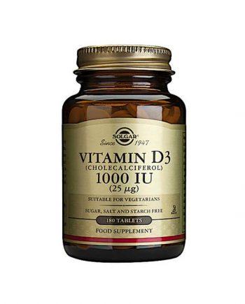 Solgar Vitamine D3 1000 IU 25 µg 180 tabletten