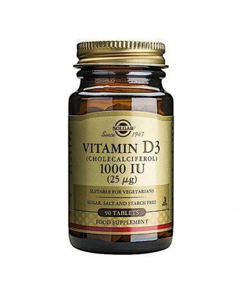 Solgar Vitamine D3 1000 IU 25 µg 90 tabletten