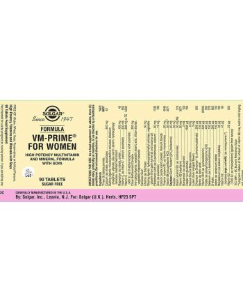 Solgar VM-Prime voor Vrouwen wikkel