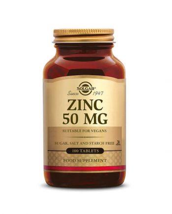 Solgar Zinc 50 mg (100 tabletten)