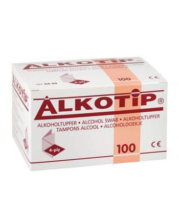 Alkotip Alcoholdoekjes 90mm x 110mm (100 stuks)